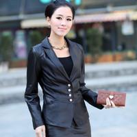 Sheep 2013 sheepskin genuine leather clothing women's outerwear long-sleeve 883 blazer