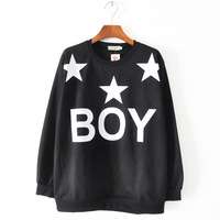 15$=2014 High quality! Autumn winter HARAJUKU zipper Boy London punk five-pointed star long-sleeve sweatshirt