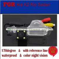 CCD with LED car rear camera night vision reversing camera for Kia K2 hatchback RIO Sedan Hyundai Verna Hatchback