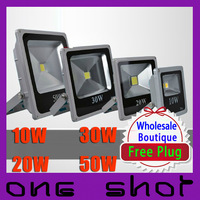 Wholesale 10pcs 10W 20W 30W 50W IP66 LED Flood Lights Outdoor Landscape Lighting
