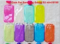 High quality TPU Water Case for Samsung i8190 Galaxy S3 Mini,Ultra Thin Slim Clear Transparent Gel Skin Soft Case,200pcs/lot