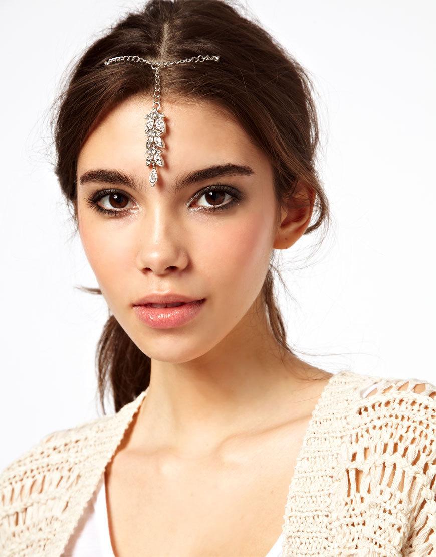 Gold Rhinestones Hair Chain Center Crystal Jewelry Sexy Head Boho Coachella Indian Wedding Headpiece Boho Hippie Girl(China (Mainland))