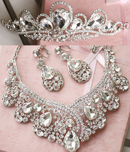 Rhinestone hair accessory bridal necklace set the bride accessories marriage accessories piece set hair accessory