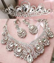 Rhinestone hair accessory bridal necklace set the bride accessories marriage accessories piece set hair accessory