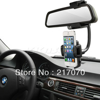 New 360 Degrees Rotation Car Rearview Mirror Holder GPS Mount Stand For Huawei Honor 3X,3C,3,2