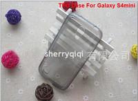 High quality TPU Water Case,Ultra Thin Slim Clear Transparent Gel Skin Soft Casefor Samsung i9190 Galaxy S4 Mini,200pcs/lot