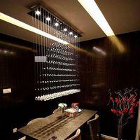 Lighting lamps modern brief crystal lamp pyramid restaurant lamp pendant light fashion sl8090  Factory wholesale