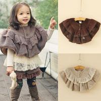 2014 autumn and winter girls clothing baby child cloak cape cloak outerwear wt-1372  sxl