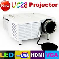 Free Shipping! UC28 with HDMI Mini Micro AV LED Digital Video Game Projectors Multimedia Player Inputs AV VGA USB SD