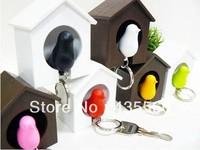Sparrow Keychain Fashion Multifunctional Lovers 2 Bird House Key Chain Key Ring For Wedding Gift