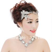 Cheap !! 2014 New  Gorgeous Big Crystal Bridal jewelry set tiara+necklace+Earrings weddiing Jewelry
