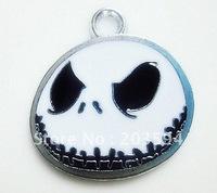 Wholesale Lots 100Pcs DIY Alloy Enamel jack skeleton Charms metal jack skull charm 26x24mm