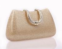 2014 rhinestone day clutches quality banquet bag evening bag bridal bag fashion  women's handbag #3009