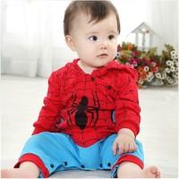 Free Shipping 2014 new fashion baby boy clothing children climb clothes cute newborn infants leotard Romper #S0492