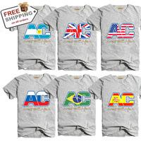Free Shipping NEW Arrive Hongkong Famous Brand ARTECASA 100%Cotton Men's T-Shirt Flag T-Shirt Super Good Quality