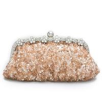 2014 women's fashion day clutch evening bag bridal bag rhinestone clutch paillette bag #4077