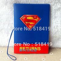 Super man passport holder passport cover testificate set card holder card case ticket folder supplies
