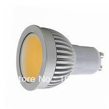 10pcs 5W COB LED Light Bulbs GU10 550 lumens led Spotlight White/Warm White AC85-265V(China (Mainland))
