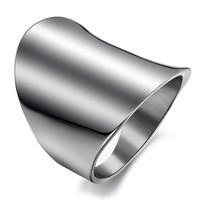 Fashion accessories personalized big ring brief elegant titanium ring women's finger ring