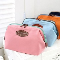 2014 Multi-function fashion canvas makeup bag receive bag storage bag 12*16cm free shipping
