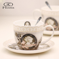 Fashion bone china coffee cup and saucer set gift cup set ceramic cup and saucer