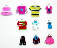 M7833 Wholesale 100Pcs/Lots mixed Enamel Alloy Dress Charms Pendant Diy Child charms Mobile phone Accessories