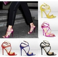 2013 Summer Women's Sexy Pumps Vintage Red/Black/Pink/Yellow/white  Bottom Platform Strappy High Heels Party Shoes( Eur 35-41)