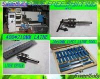 Free fast shipping Most countries household  mini Turning horizontal  lathe machine 210mm*400mm lathe