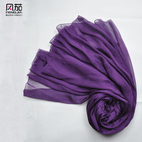 Deep purple solid color scarf silk scarf silk mulberry silk female design long scarf cape dual-use ultra long autumn and winter