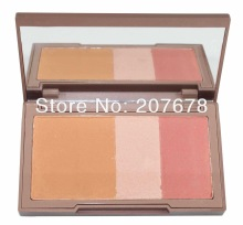 2013 New NAKED, Urban Brand Makeup Blush, Flushed Blusher , Bronzer &Highlighter &Blush 3 Diff Color Dropship Free Shipping(China (Mainland))
