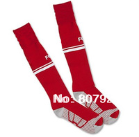 Embroidery Logo 13/14!!! BayenFc Home Red Soccer Socks,Thailand Quality BayenFc Red Socks+Free Shipping