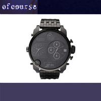 1PCS Free Shipping  Luxury  Brand Military Stainless Steel Watch  DZ7214 New Arrival Watch Original Quality Quartz  Watch MEN