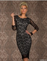 2014 new European and American sexy lingerie clubwear dress package hip big cashew lace, sexy dress