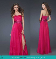 2014 Tempting Strapless with Belt Chiffon Prom Dressvv