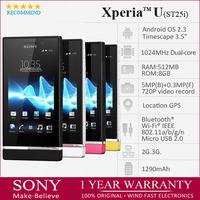 sony st25i Original SONY Xperia U ST25i Unlocked 3.5'' 8GB Dual-core 1GHz Android 5MP 3G GPS WiFi Smartphone Factory Refurbished