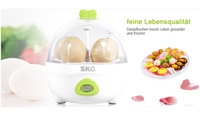 SKG Electric Egg Boilers Cooker Steam Pastry Refreshing Egg Maker Custard Transparent Lip **VDE PLUG**