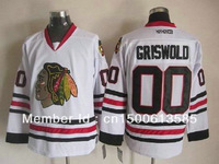 cheap nhl ice hockey jerseys chicago blackhawk 00 clark griswold blackhawks jersey white hockey jersey china