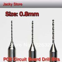 10pcs 3.175x0.8mm Drill Bit Carbide PCB Drill Kit Carbide Micro Drill Bits CNC Router Carving Tools Print Circuit Board / Brocas