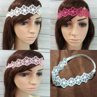 10pcs 2014 women's vintage flower lace headband,fashion hair accessory wholesale white red pink color