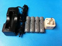 Free Shipping  4Pcs/set  High Powerful  Battery  4200mAh 18650 Battery + Charger   For Cree T6  Flashlight  Q5 Torch  Lanterns