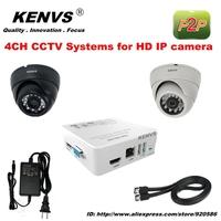 HD IP CAMERA Dome camera icloud P2P surveillance Security NVR 2*720P CCTV IP CAMERA KIT CCTV System HDMI 1080P 4CH FUII NVR