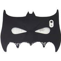 New Hot Black And Green 3D Batman Mask Soft Silicone Case Cover For Apple iPhone 5 5G 5S. Free shipping!