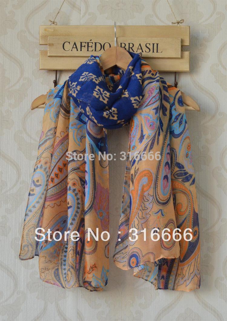 Scarf fashion style designer 2014,Free shipping,paisley scarves,cashew nuts print,Flower print,Bohemia style,viscose hijab,wraps(China (Mainland))