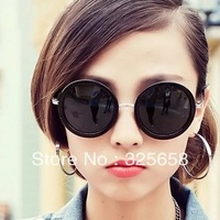prince's mirror glasses Fashion vintage big circle sun glasses female star style big box  anti uva prevent uvb