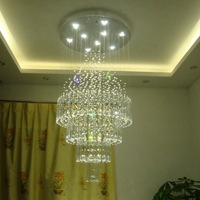 Brief pendant lamp living room crystal lamp pendant light stair lamp restaurant lamp