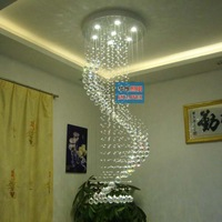 Lamps crystal pendant light modern brief spiral pendant lamp living room lights stair crystal lamp project light
