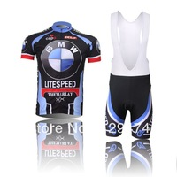 High Quality!2014 LITESPEED PRO TEAM Cycling Jersey short sleeve bib pants/pants Quick Dry Breathable Cycling Clothing GEL PAD