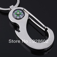 New Fashion Simple Design Compass Bottle Opener Key Chain Free shipping