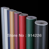 "Accessories car covers stickers 3D Carbon Fiber Vinyl Twill Weave Sheet 20""x50""/51cmx127cm Gold"