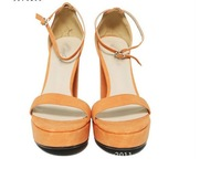 Sandals for Ladies Faux Leather Backled Sandal Platform Pumps for Women Free Shipping S0036